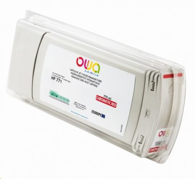 OWA Armor cartridge pro HP DesignJet Z 6200, 6800, 775ml, B6Y08A, Red