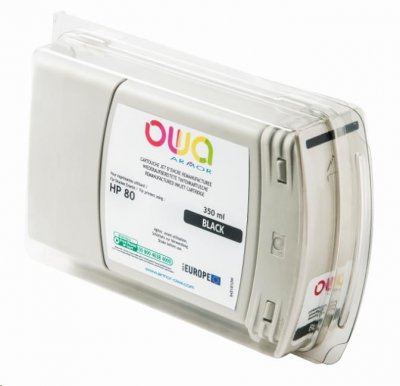 OWA Armor cartridge pro HP DesignJet 1050, 1055, 350ml, C4871A, Black