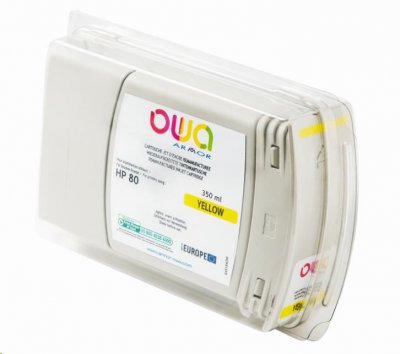OWA Armor cartridge pro HP DesignJet 1050, 1055, 350ml, C4848A, Yellow